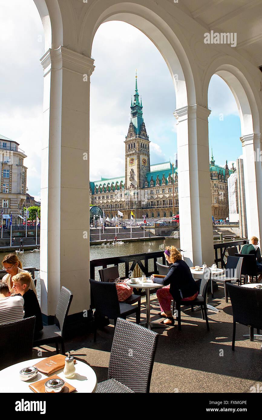 Hamburg City Hall, Hamburg, Germany - Stock Image