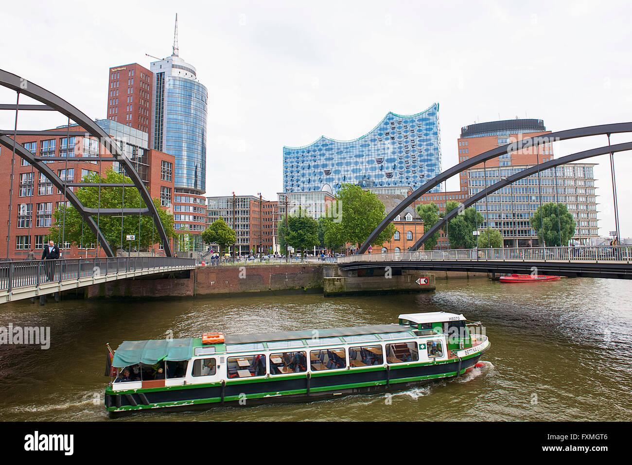 Hanseatic Trade Center, Hamburg, Germany - Stock Image