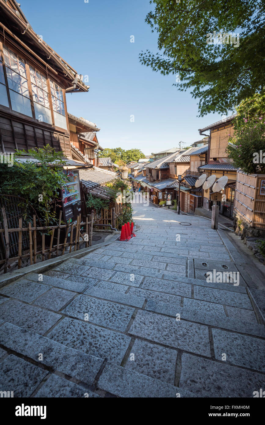 Staircases at Gion in Kyoto Japan - Stock Image