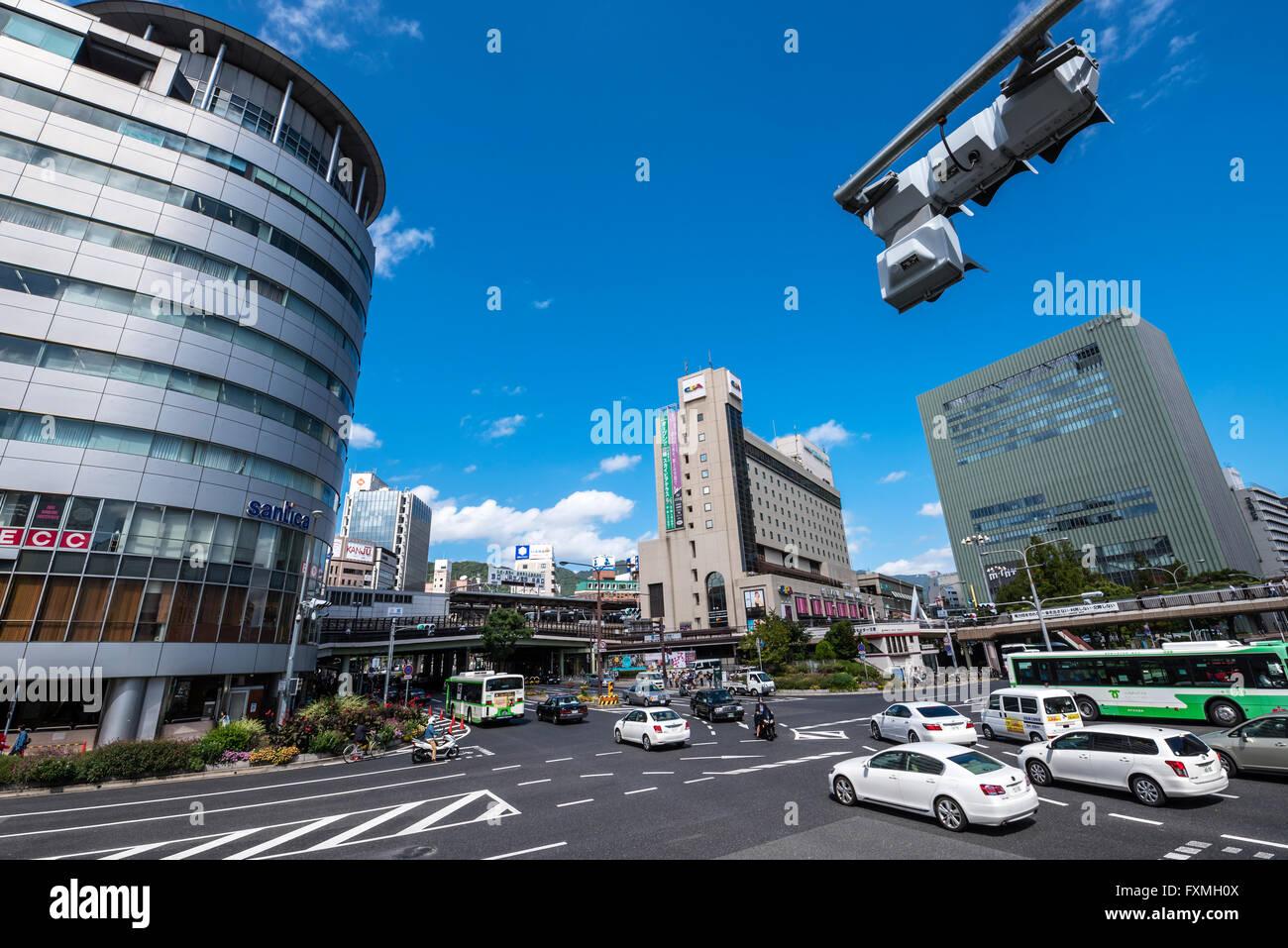 Crossing in Kobe, Japan - Stock Image