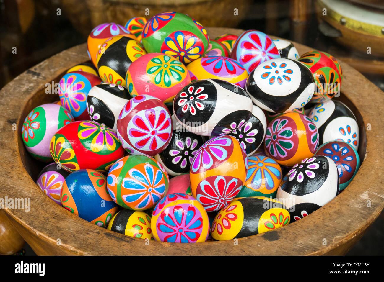 Colored Eggs, Ubud, Bali, Indonesia - Stock Image
