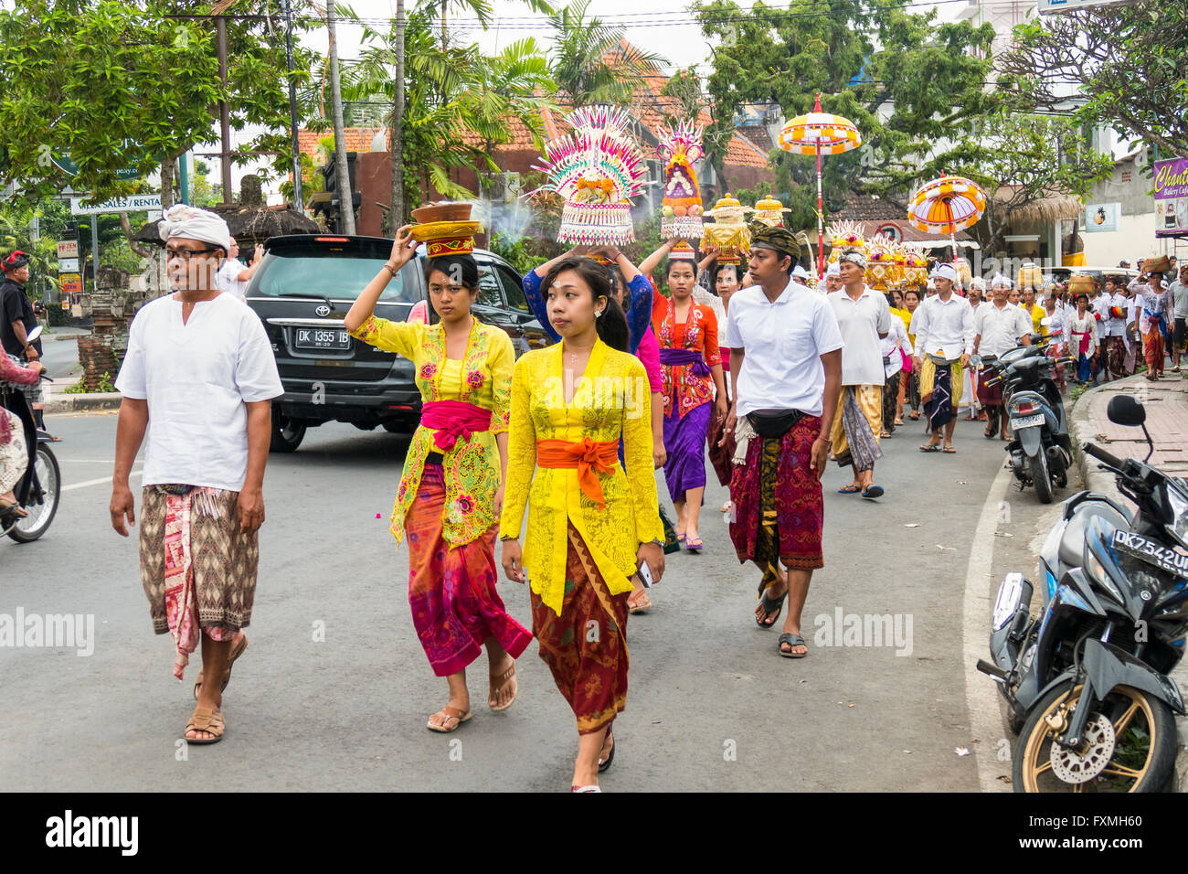 Traditional Balinese Ceremonies, Ubud, Bali, Indonesia - Stock Image