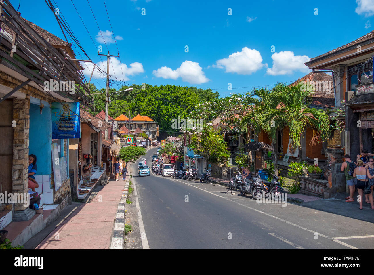 Street View of Ubud, Bali, Indonesia - Stock Image