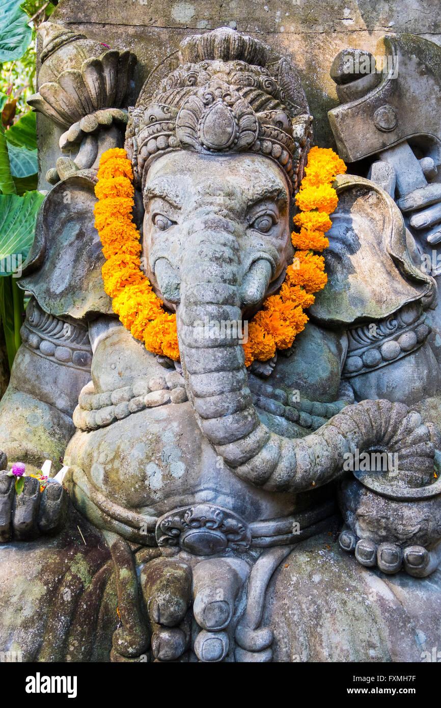Ganesha Sculpture, Ubud, Bali, Indonesia - Stock Image