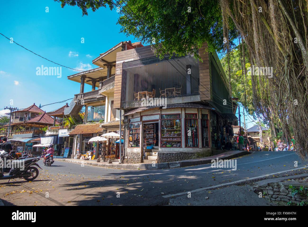 Street View of Ubud, Bali, Indonesia - Stock Image
