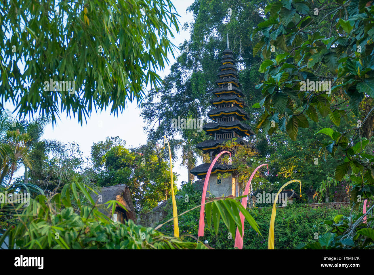 Balinese Temple, Ubud, Bali, Indonesia - Stock Image