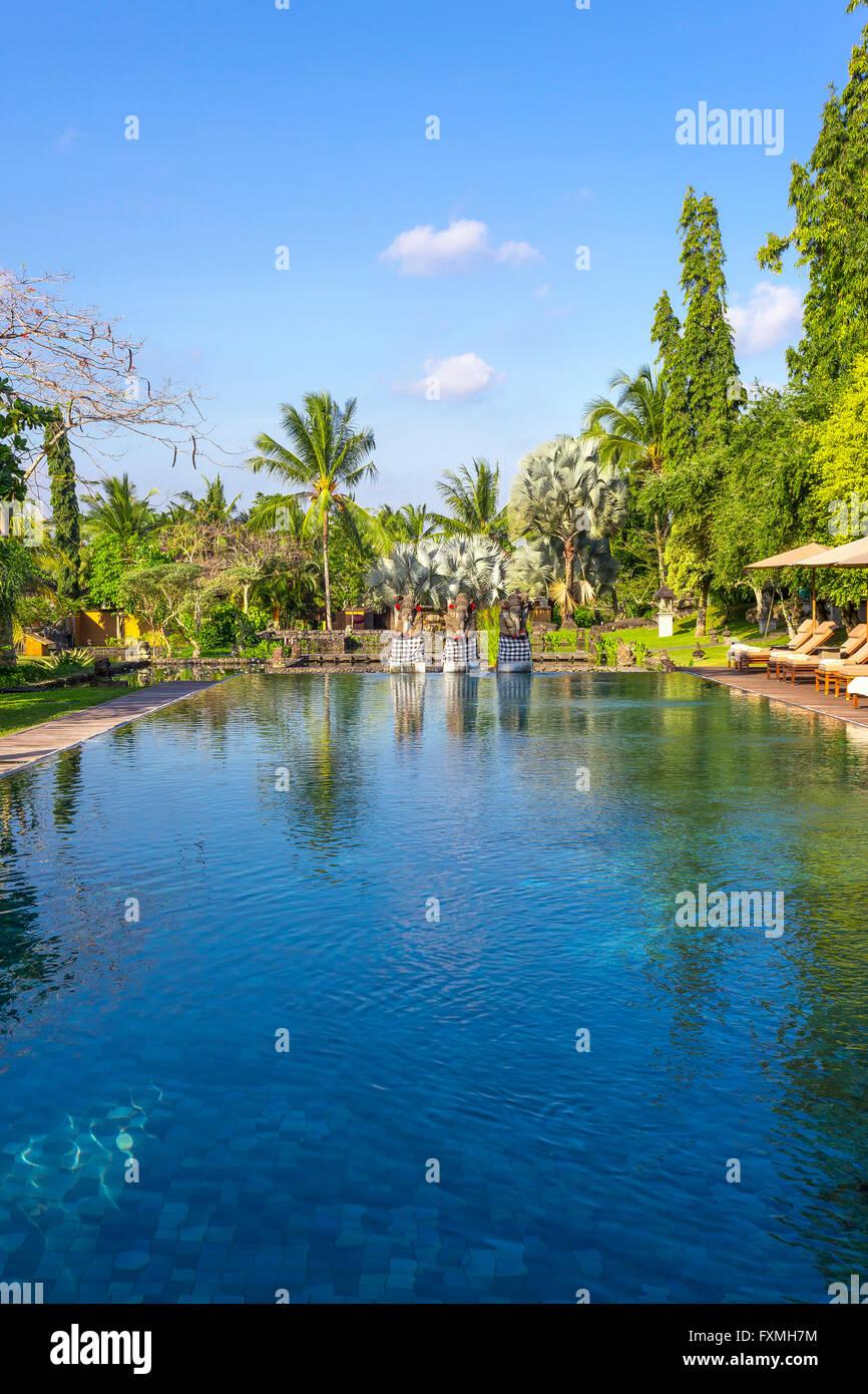 Swimming Pool, Ubud, Bali, Indonesia - Stock Image