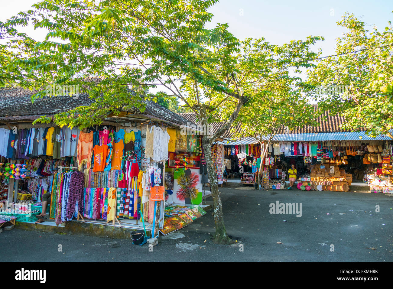 Pura Tirta Empul Market, Ubud, Bali, Indonesia Stock Photo