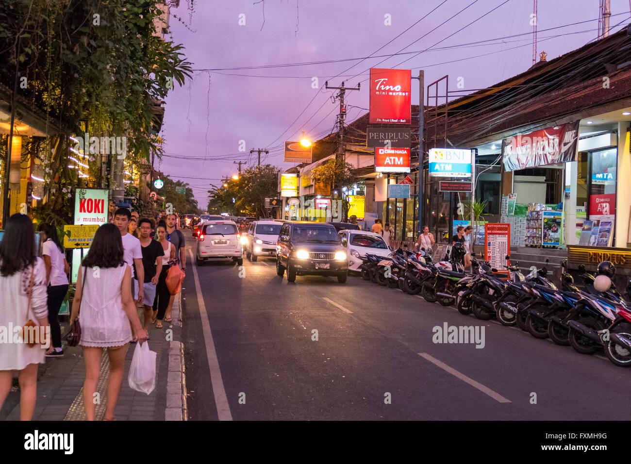 Street View of Ubud, Bali, Indonesia Stock Photo: 102485532  Alamy