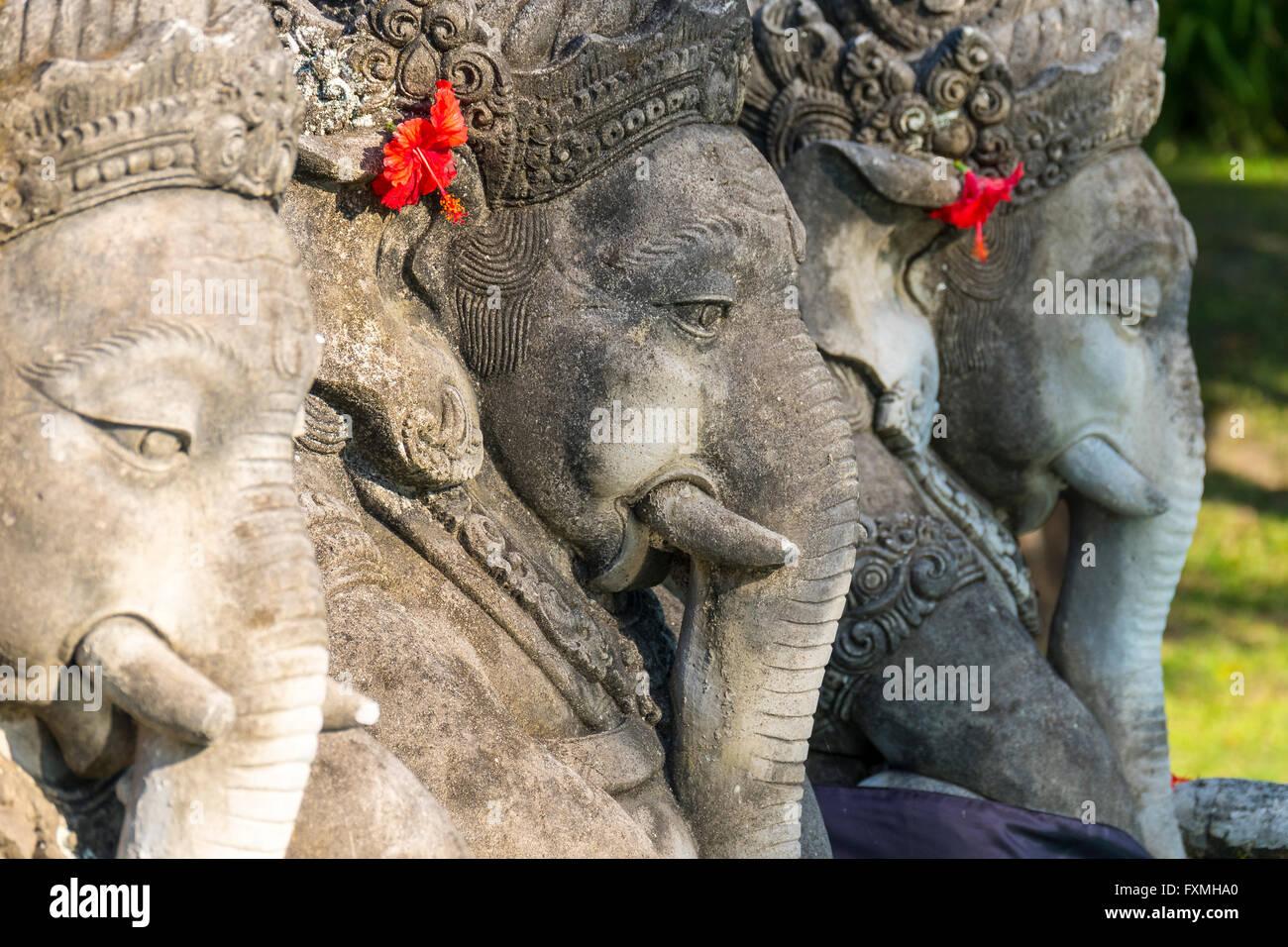 Elephant Sculpture, Ubud, Bali, Indonesia - Stock Image
