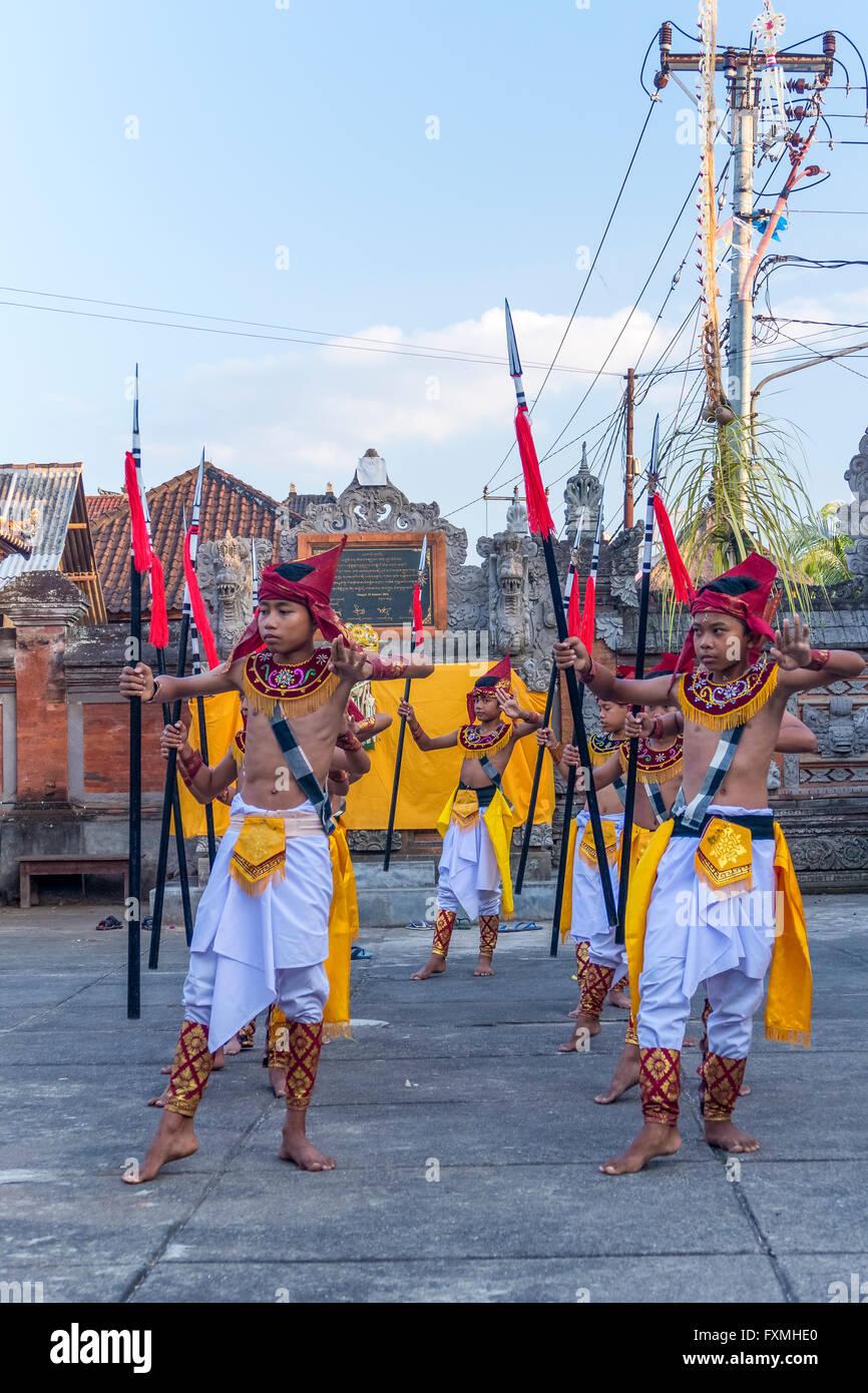Traditional Balinese Ceremonies, Ubud, Bali, Indonesia - Stock Image