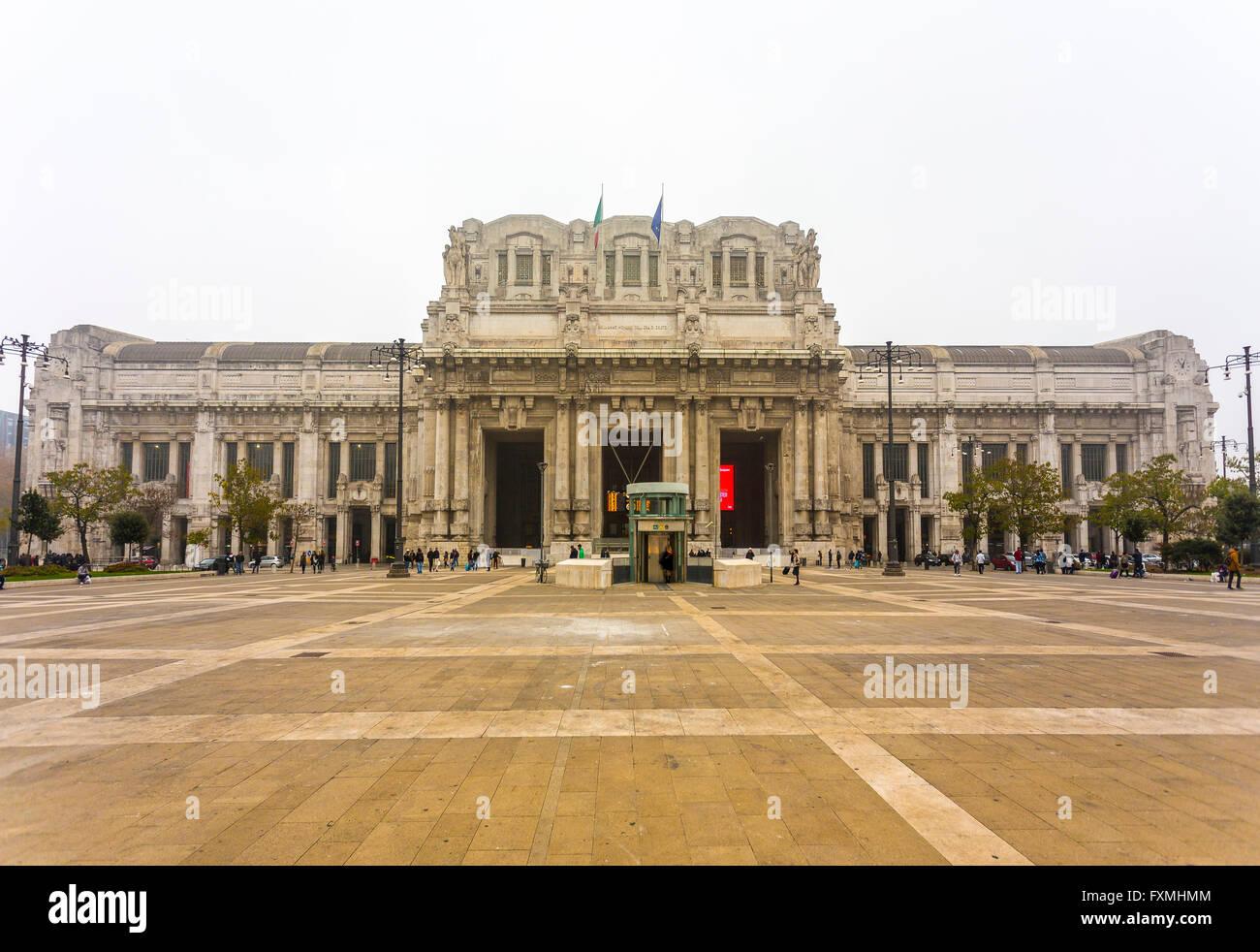 Milano Centrale Railway Station, Milan, Italy - Stock Image