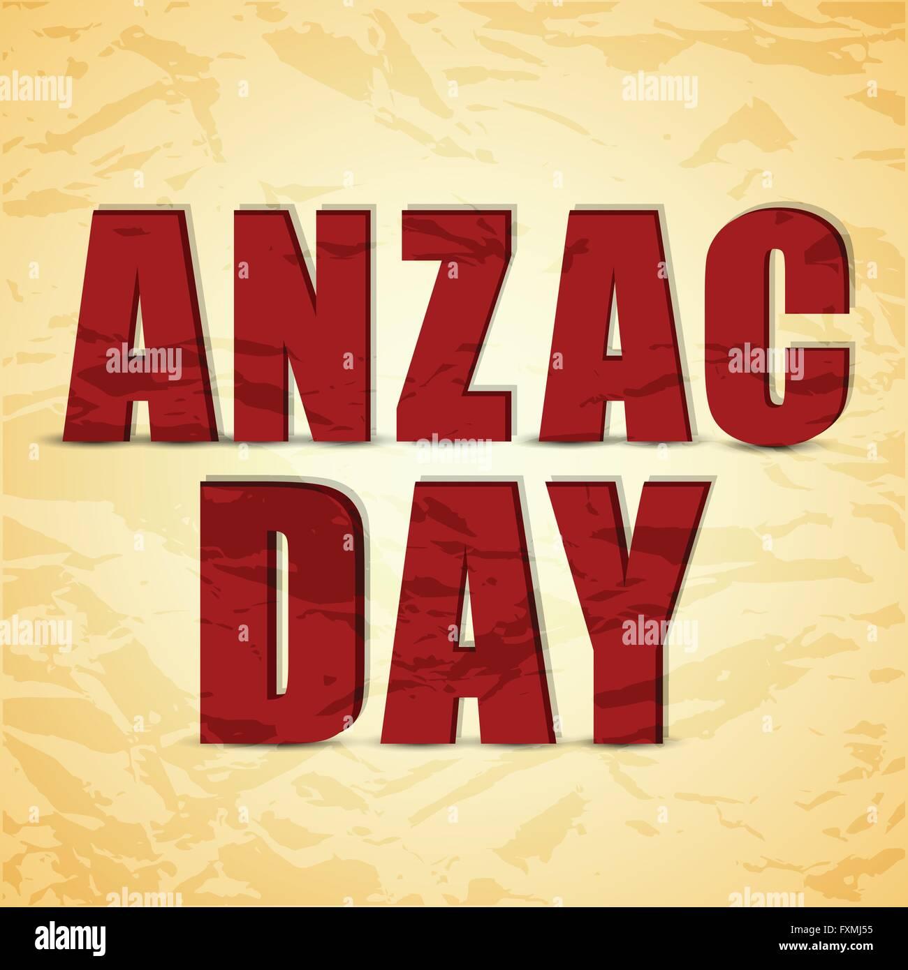 Anzac Day Abstract - Stock Vector