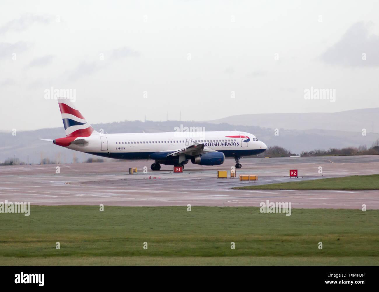 British Airways Airbus A320 narrow-body passenger plane (G