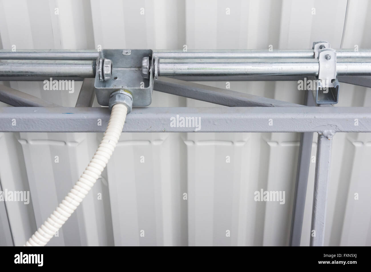 Fuse Box Conduit Wiring Diagram Libraries Flexible Libraryelectrical Junction With Pipe Connection Stock Image