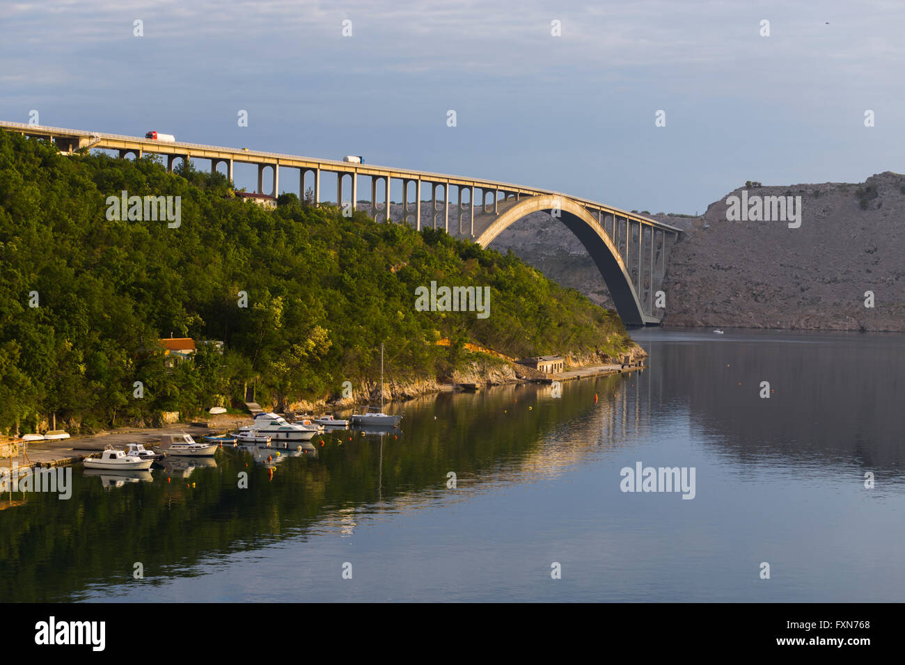 Bridge mainland - Krk island in Croatia Stock Photo