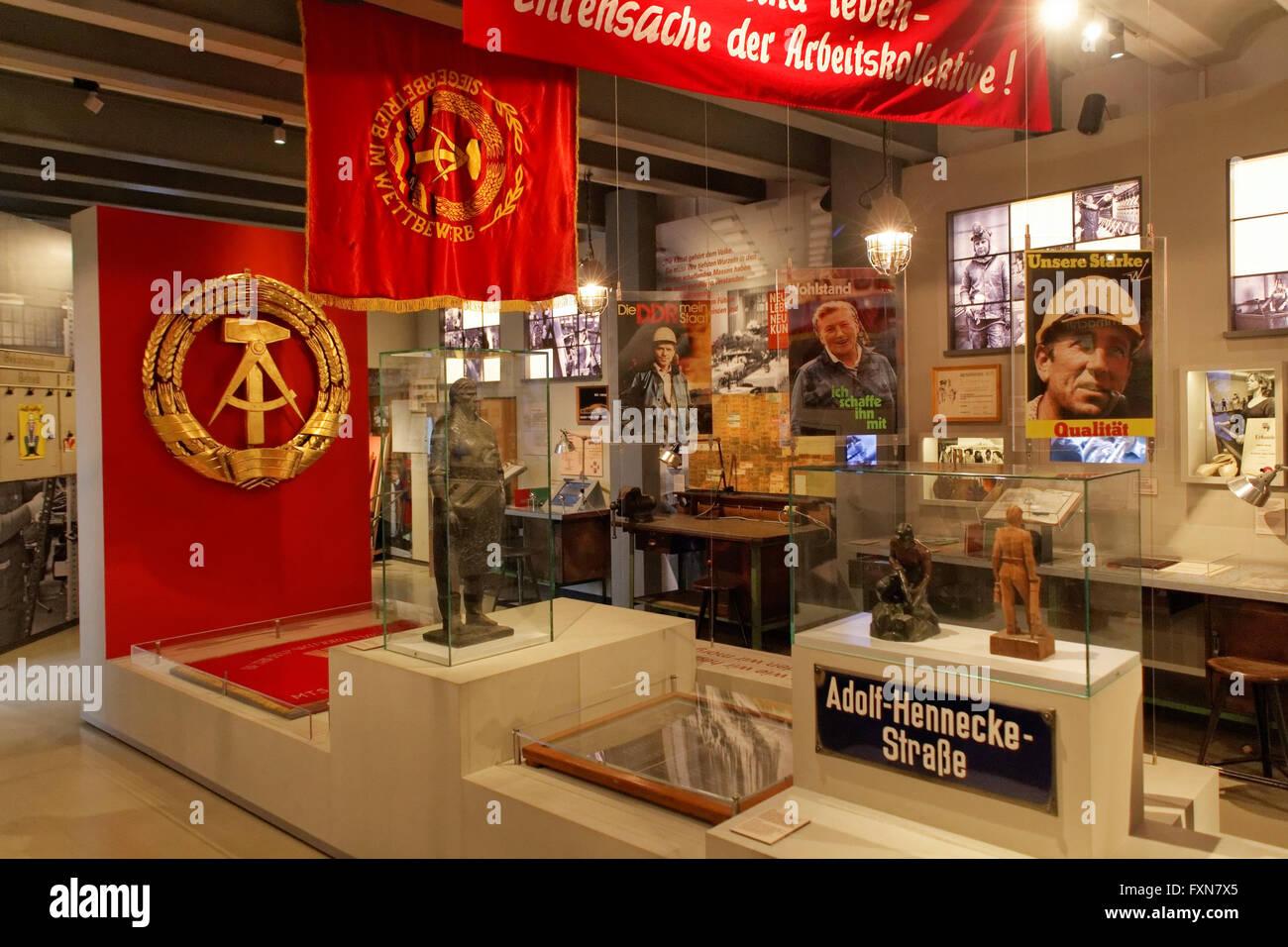 DDR Museum in der Kulturbrauerei Prenzlauer Berg, Berlin, Deutschland - Stock Image