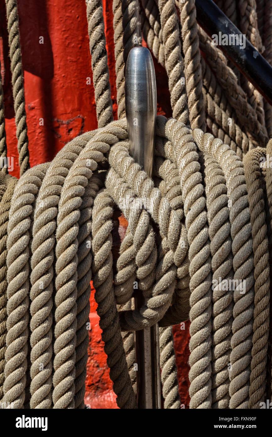Rops, sailing ship - Stock Image