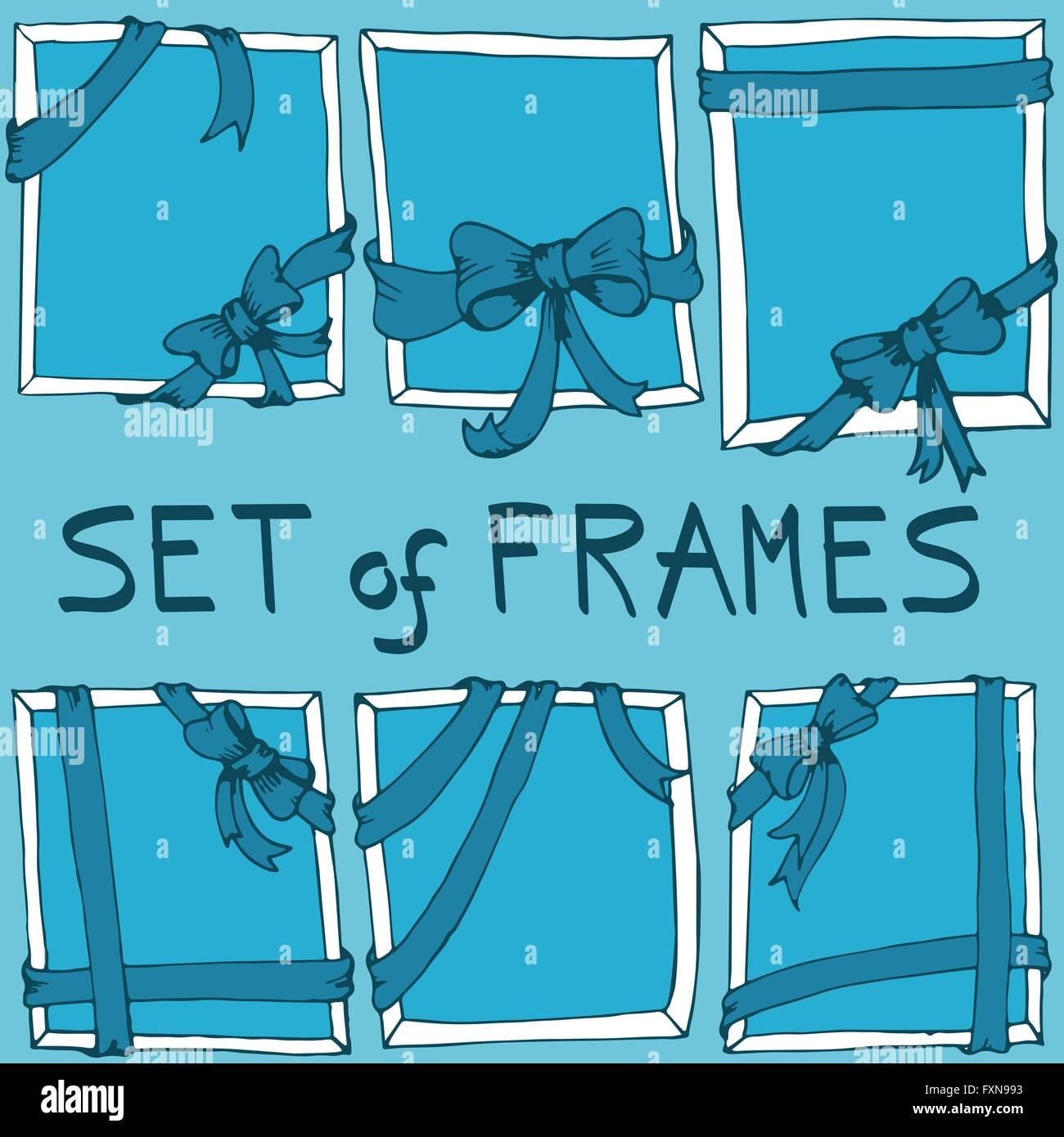 Set Of Hand Drawn Bows Stock Photos & Set Of Hand Drawn Bows Stock ...