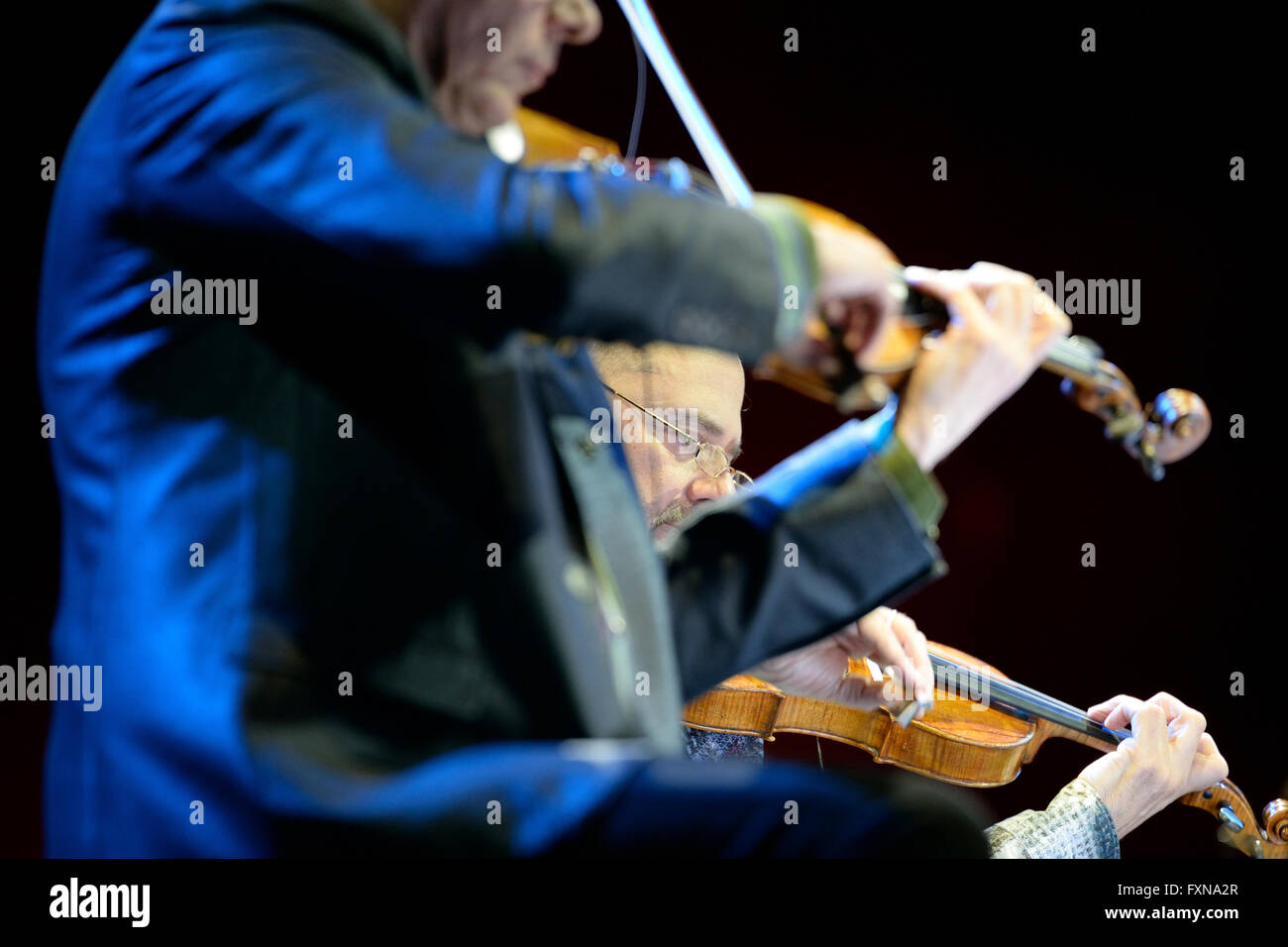 BARCELONA - MAY 31: Kronos Quartet (American string quartet), concert at Heineken Primavera Sound 2014 Festival - Stock Image