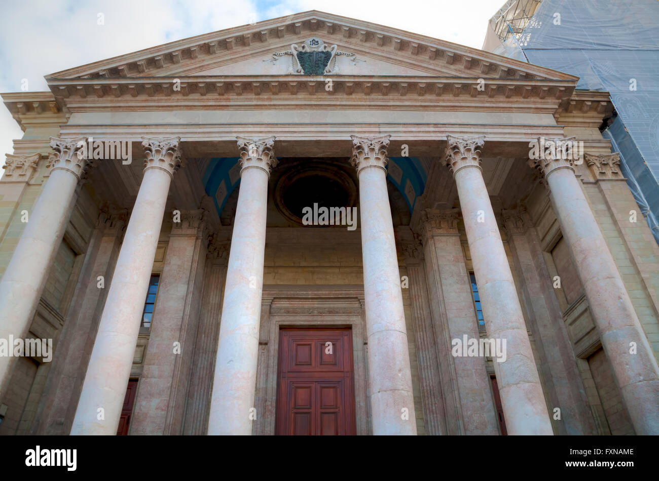 St Pierre Cathedral entrance in Geneva, Switzerland - Stock Image
