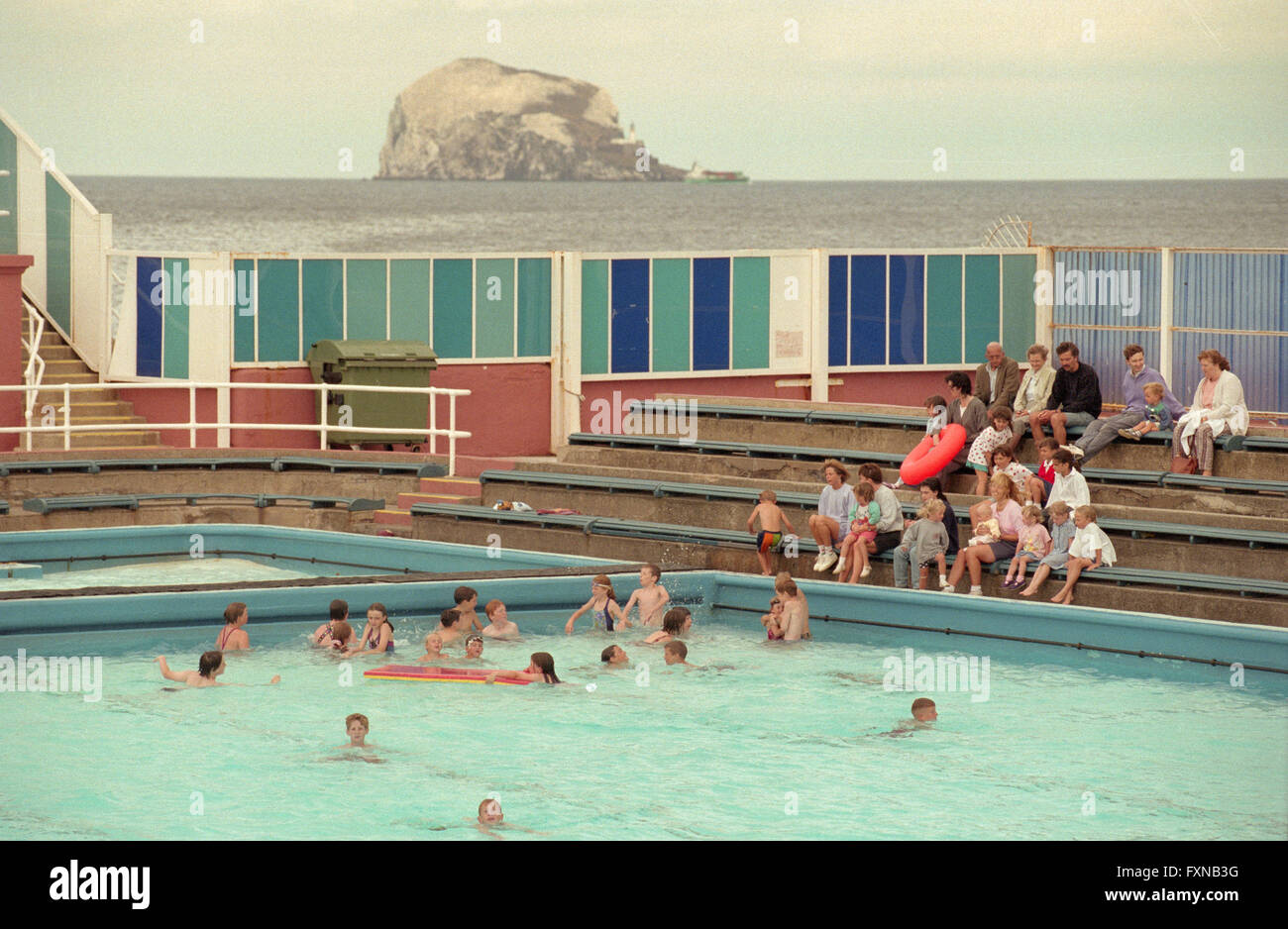The old outdoor swimming pool in north berwick east lothian stock photo 102502612 alamy for Swimming pools in the north east