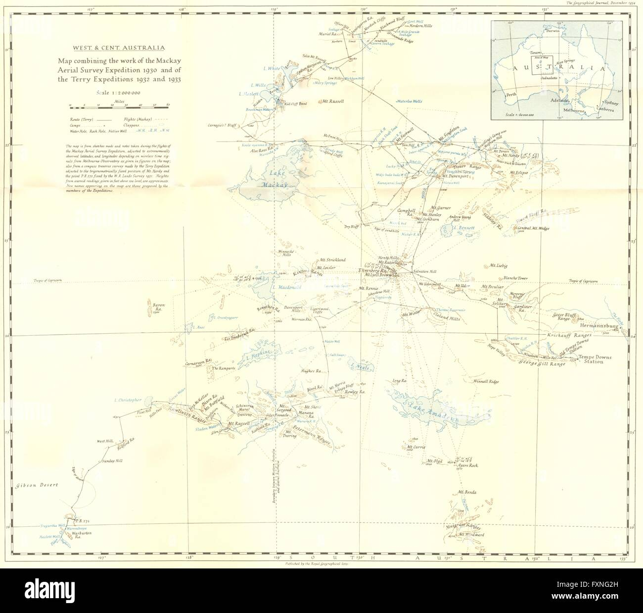 Mckay Australia Map.Australia W Central Mackay 1930 Terry 1932 33 1934 Vintage Map