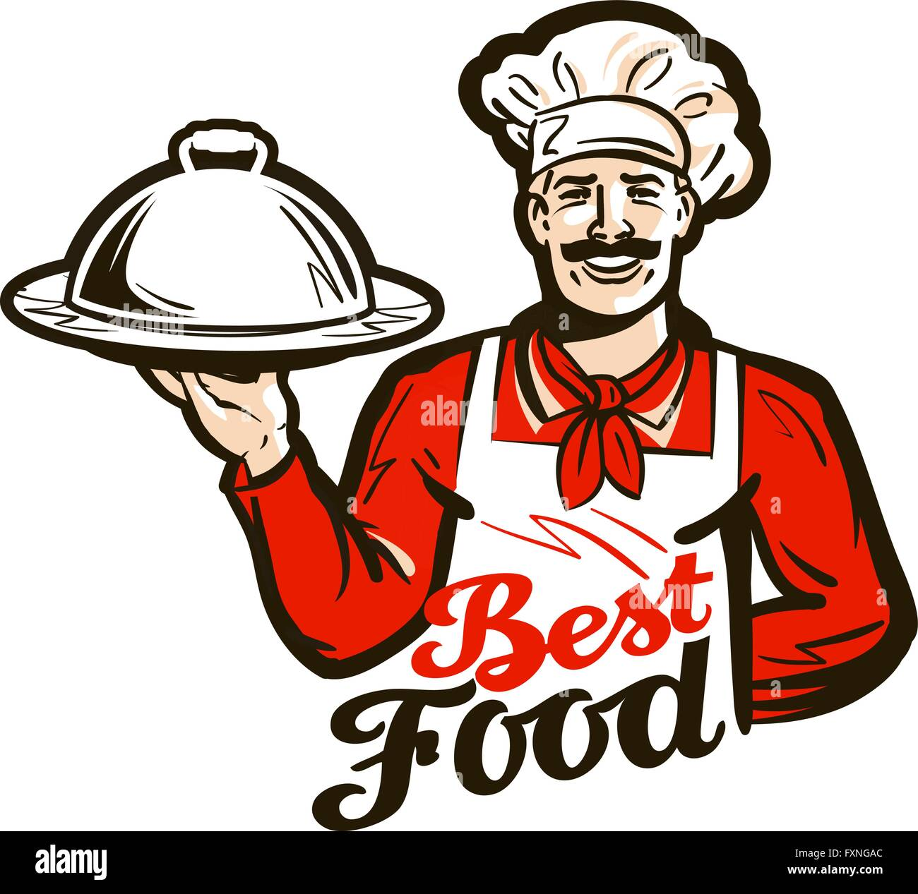 restaurant diner vector logo dish meal food or chef icon stock