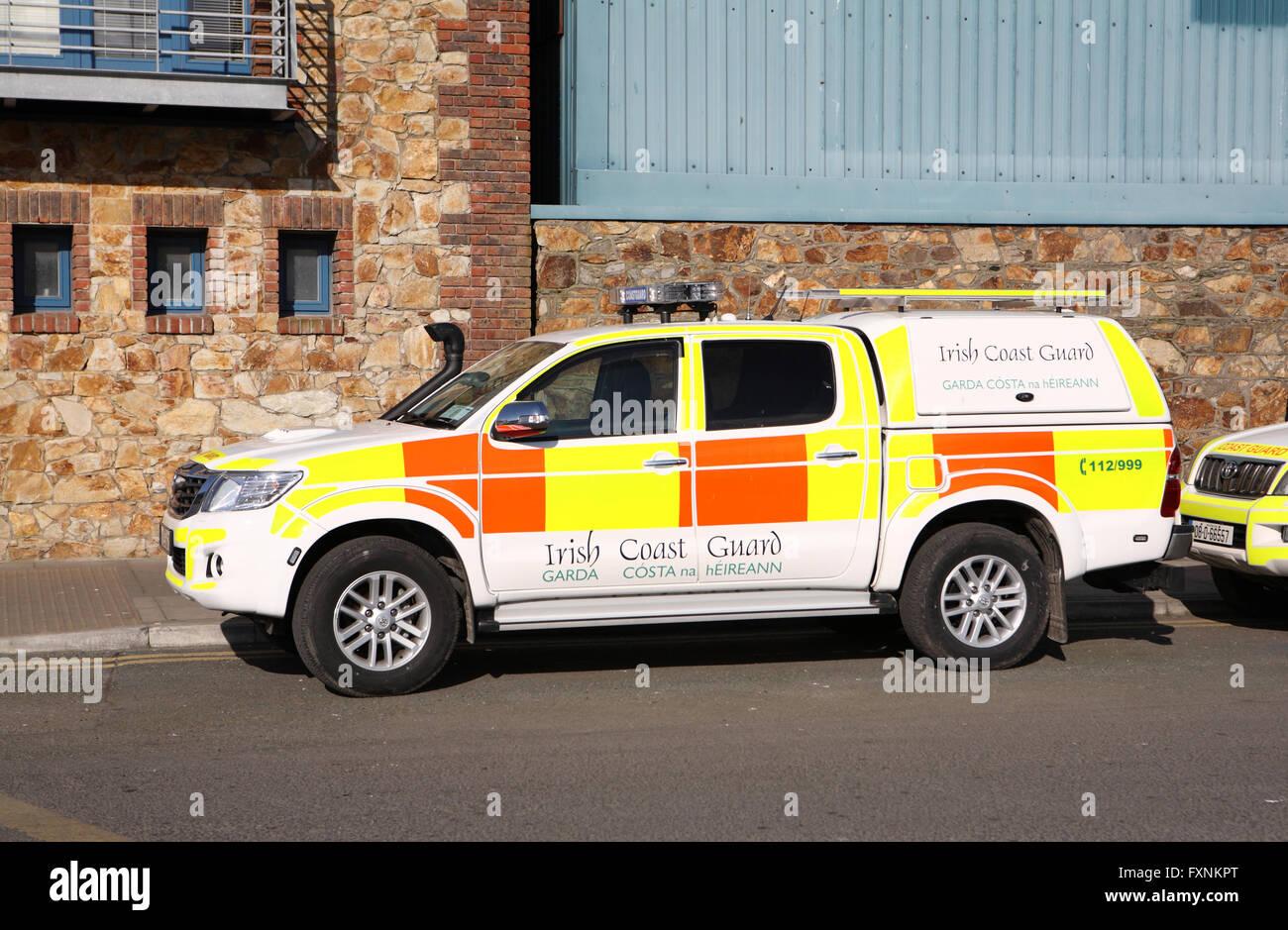 Irish coast guard rescue vehicle - Stock Image