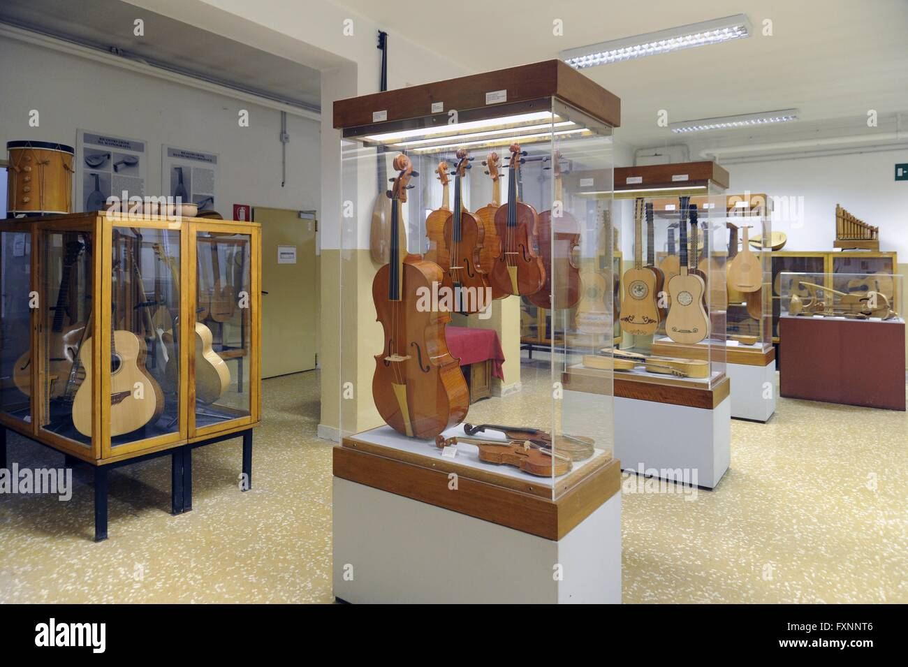 milan italy civic school of violin making the museum stock photo