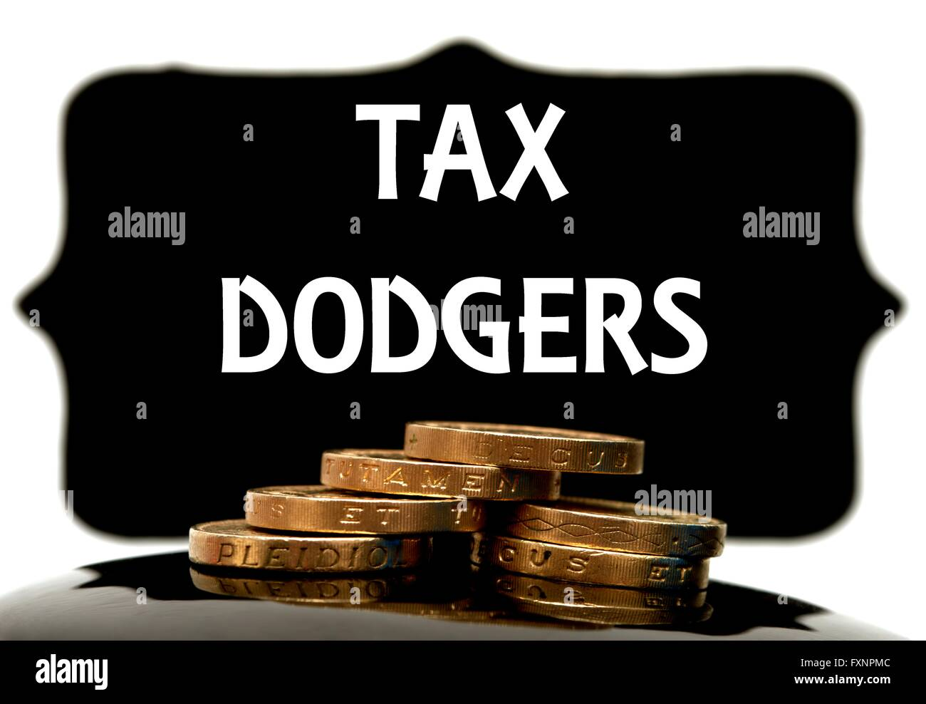 Tax dodgers concept - Stock Image