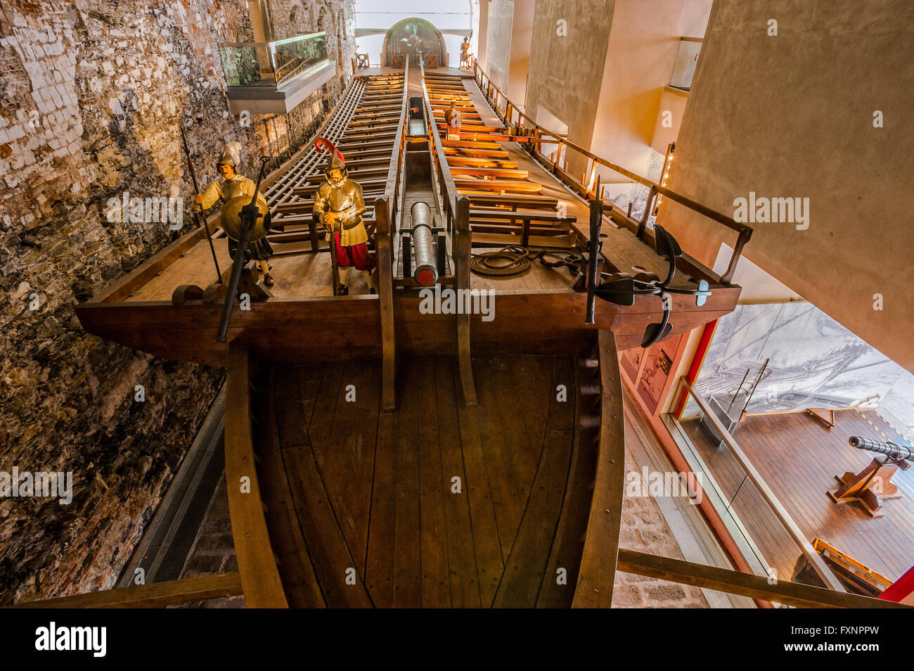 Galata Museo Del Mare.Italy Liguria Genoa Galata Museo Del Mare Arsenal The Galley On