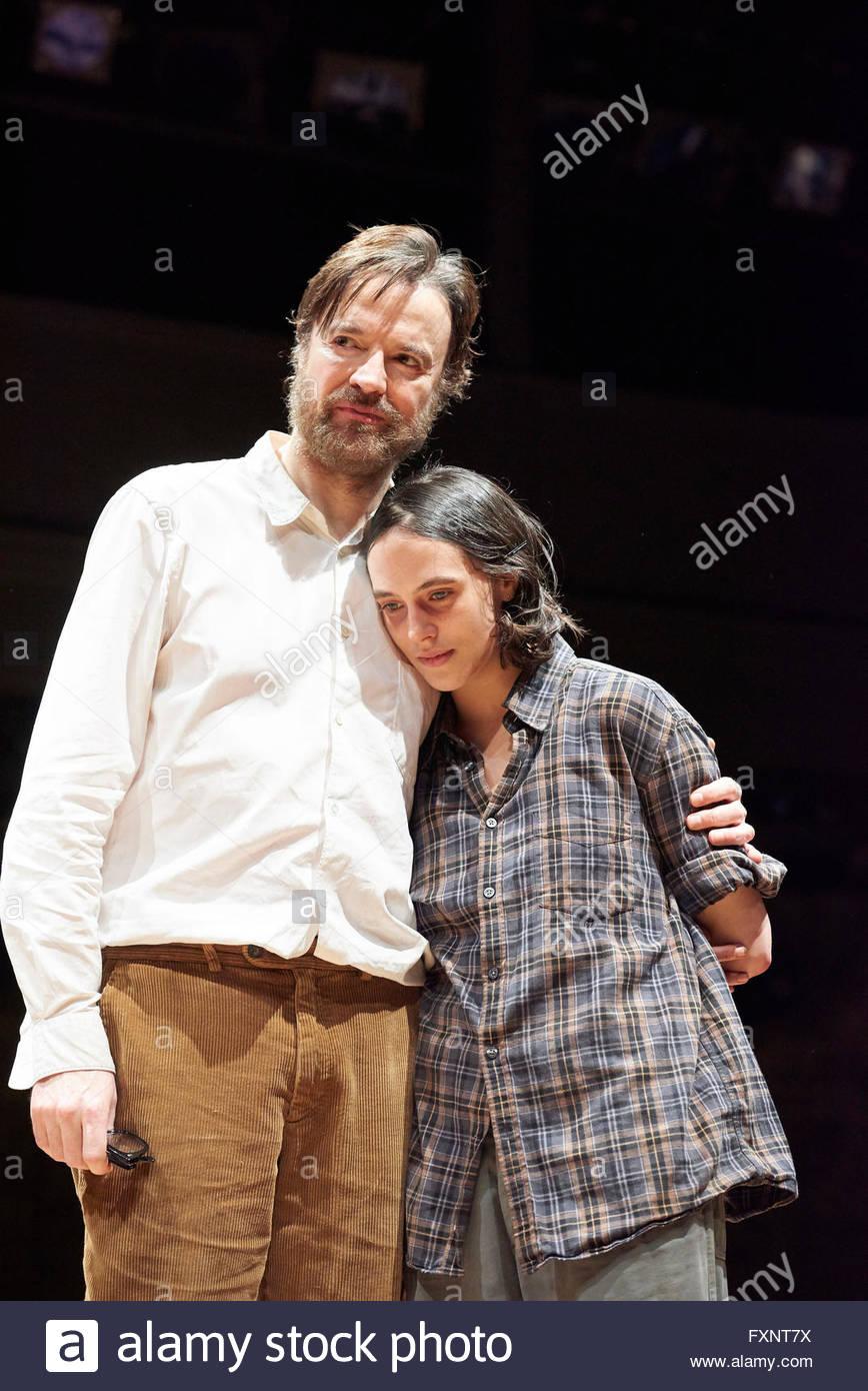 Uncle Vanya by Anton Chekhov, directed by Robert Icke. With Paul Rhys as John [Vanya], Jessica Brown Findlay as - Stock Image