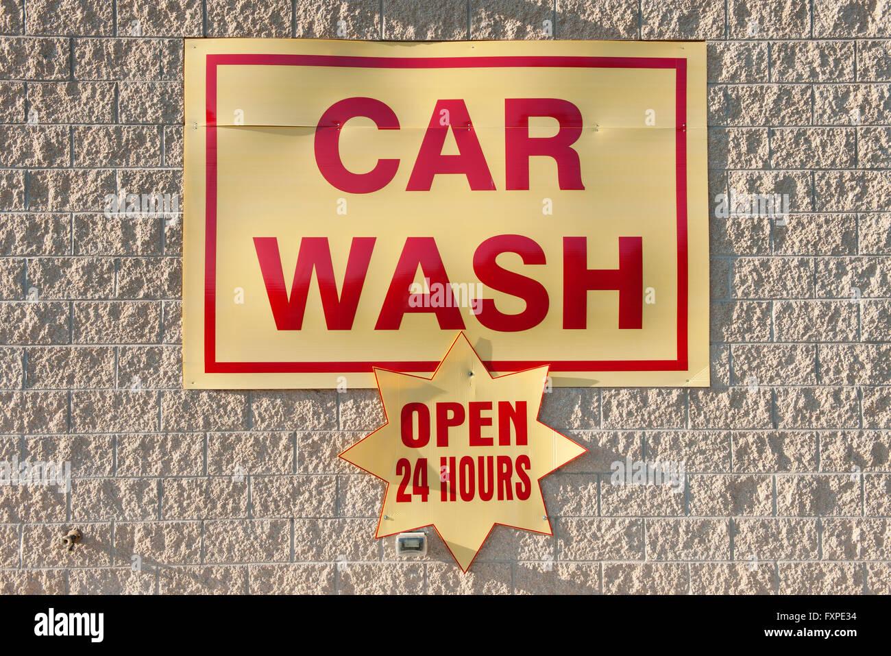 Car wash sign - Stock Image
