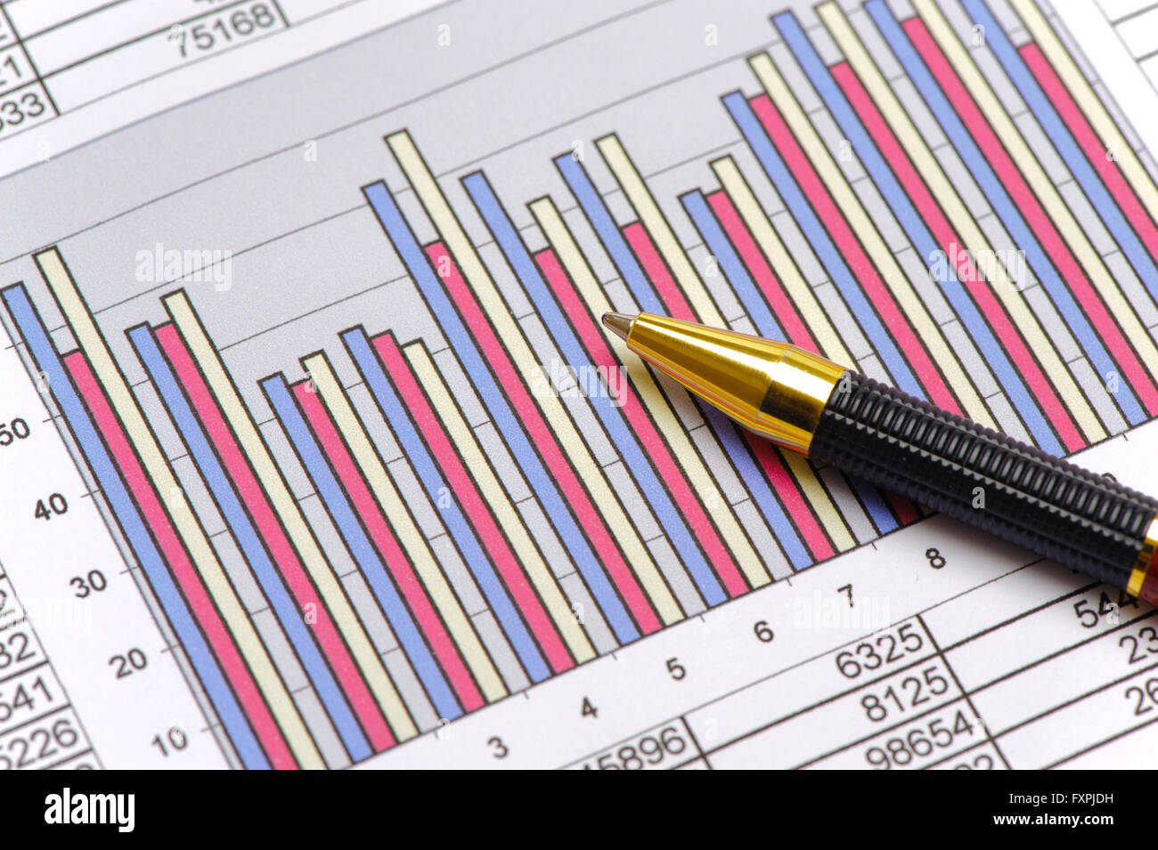 chart of stock market shows growth - Stock Image