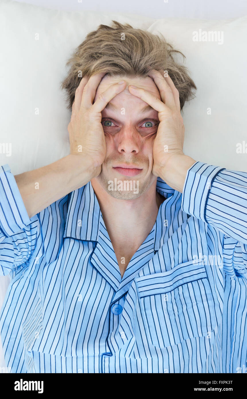 can't sleep from stress or worries - Stock Image