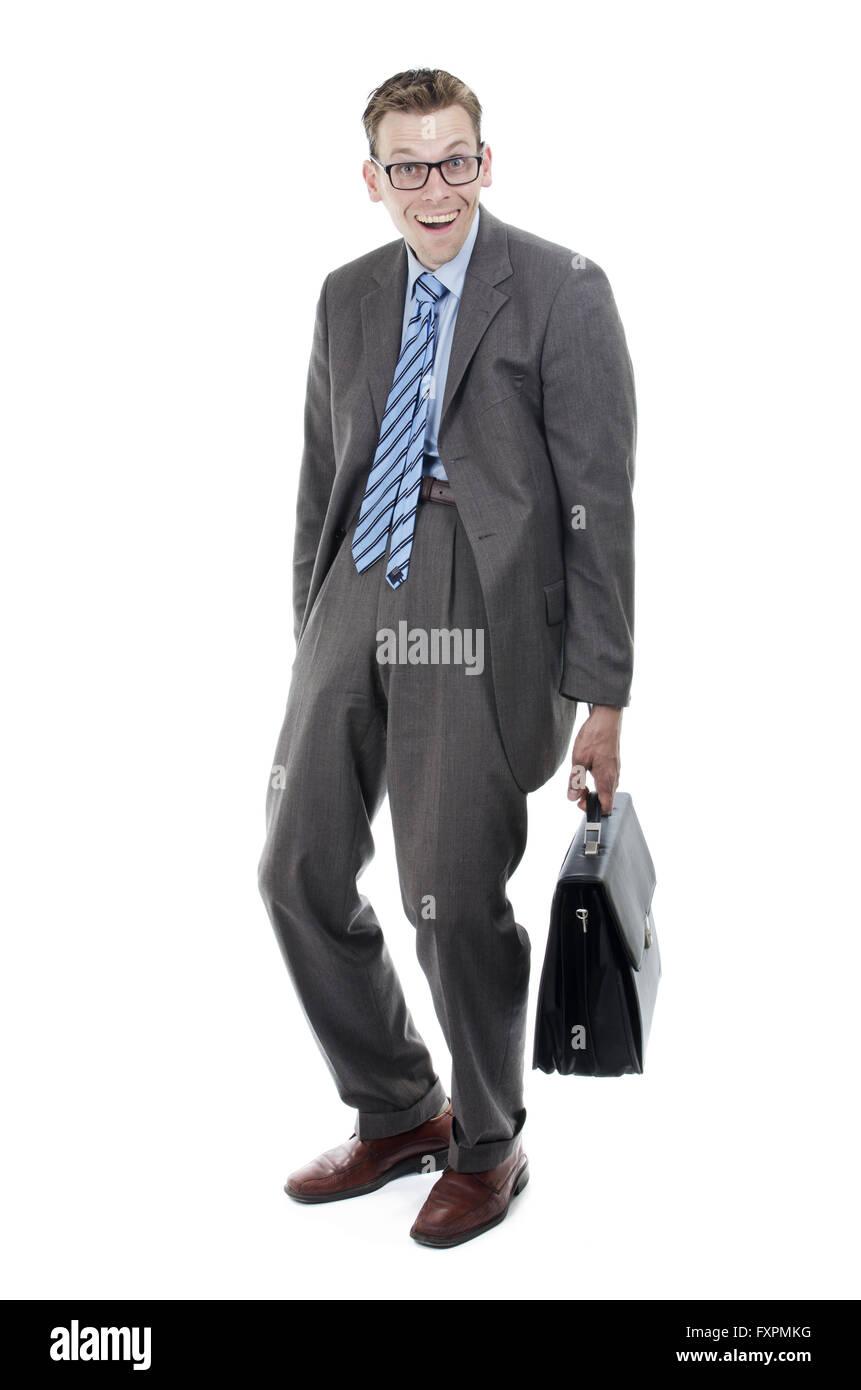 Nerdy salesmen - Stock Image