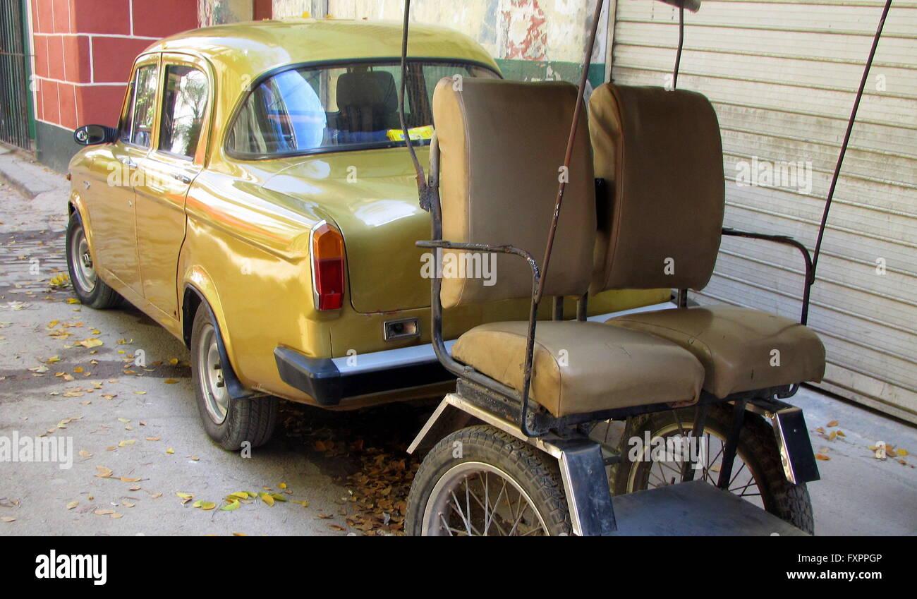 Taxicab in Havana, Cuba. - Stock Image