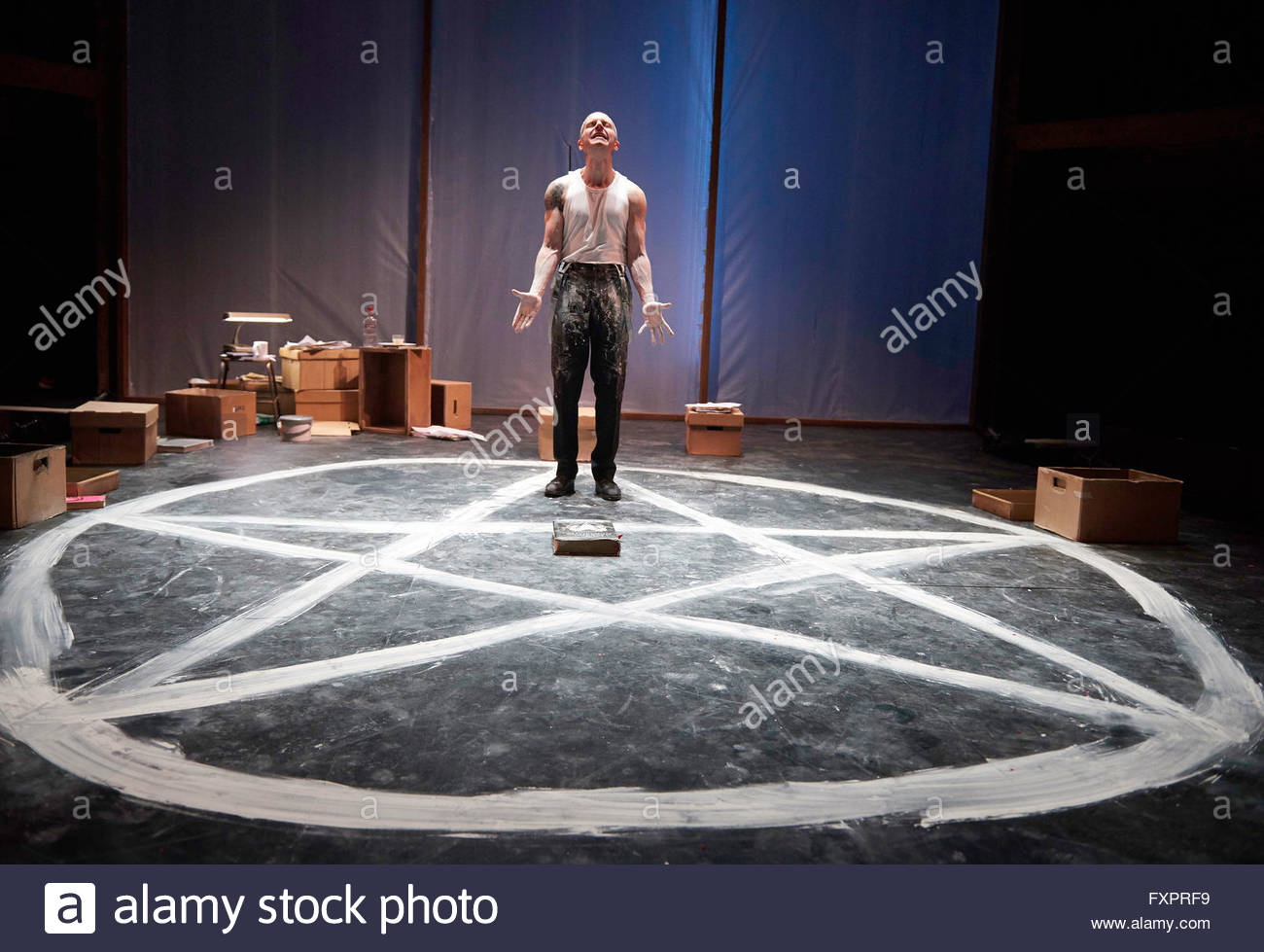 Doctor Faustus by Christopher Marlowe, A Royal Shakespeare Company Production directed by Maria Aberg. With Oliver - Stock Image