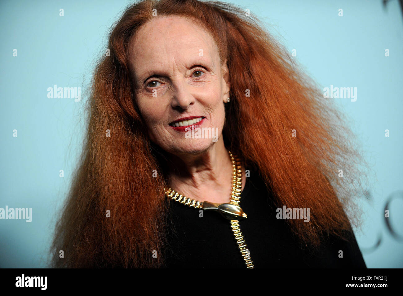 New York City. 15th Apr, 2016. Grace Coddington attends Tiffany & Co. Celebrates the 2016 Blue Book at The Cunard - Stock Image