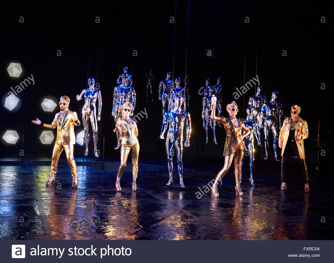 Everyman. A new adaption by Carol Ann Duffy directed by Rufus Norris. Opens at The Olivier Theatre at The Royal - Stock Image
