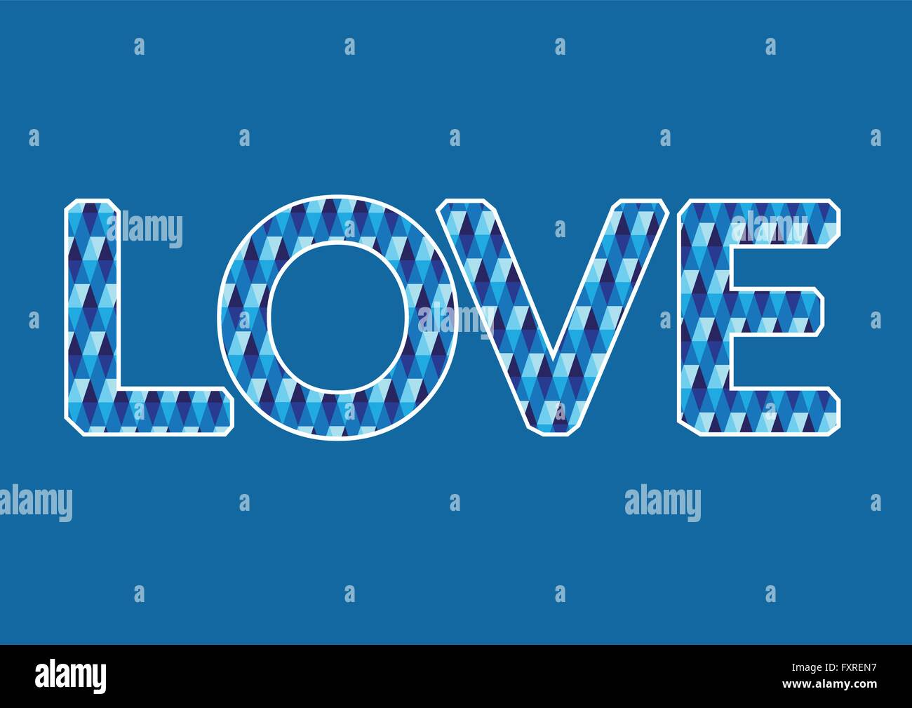 LOVE  Font Type for Valentines day card - Stock Image