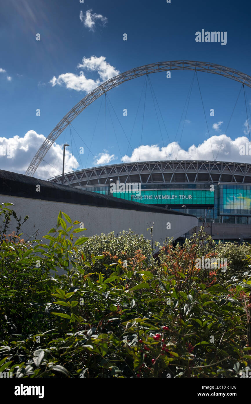 Wembley Stadium , approached by Wembley Way London England - Stock Image