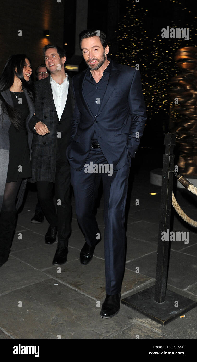 Celebrities and cast attend Eddie The Eagle - European film afterparty at  Ham Yard hotel. London. UK Featuring: Hugh Jackman Where: London, United  Kingdom When: 18 Mar 2016 Stock Photo - Alamy