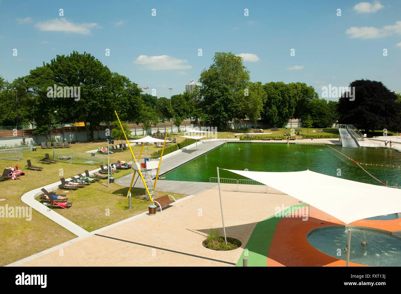 Köln, Neustadt-Nord, Lentpark, Freibad mit Schwimmteich ...