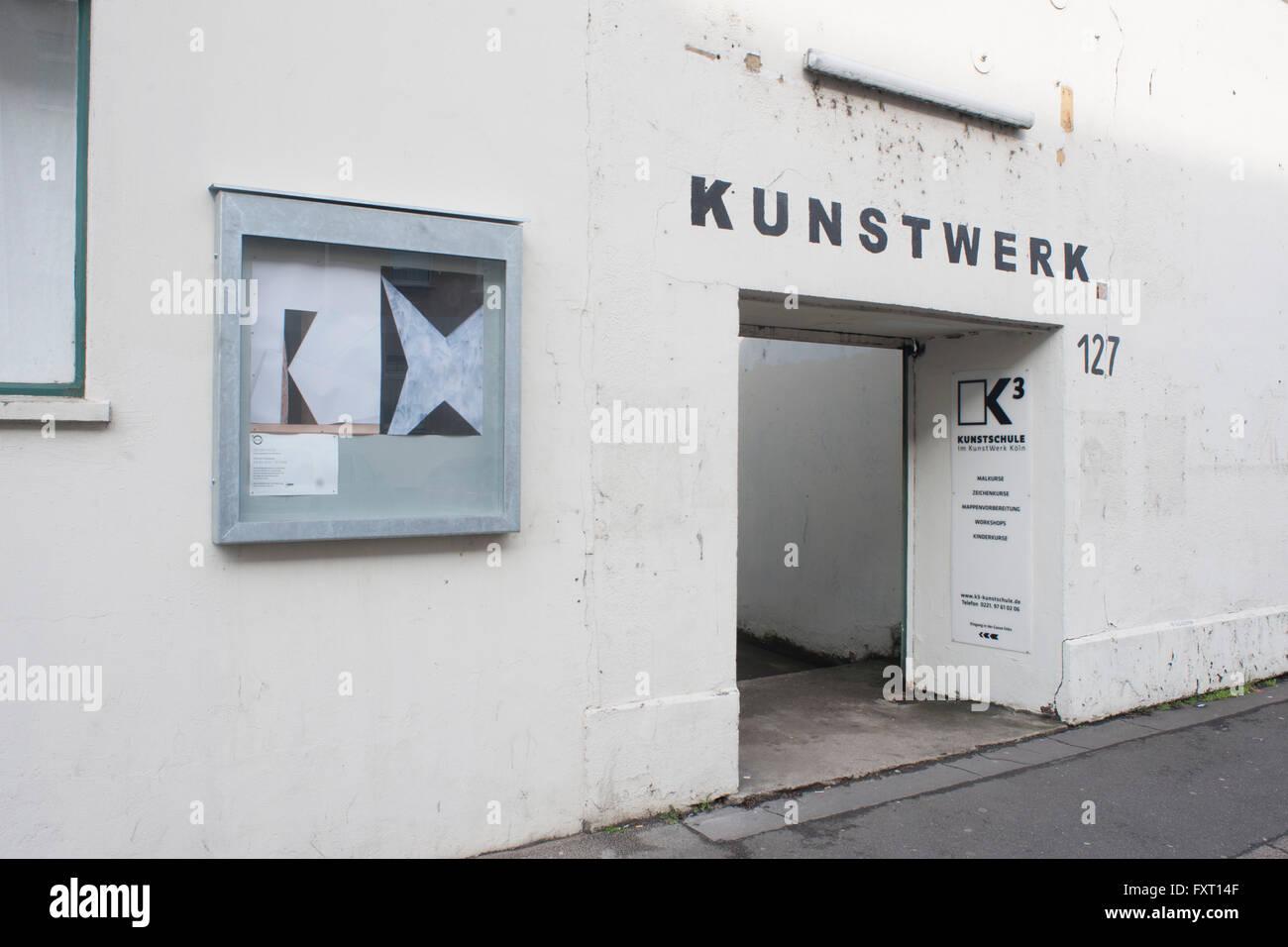Köln, Mühlheim, Deutz-Mühlheimer-Strasse 127-129, KunstWerk e.V. , Deutschlands grösstes selbstverwaltetes - Stock Image