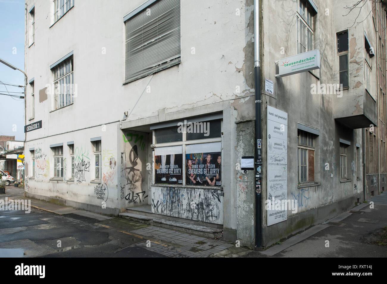 Köln, Mühlheim, Deutz-Mühlheimer-Strasse 127-129, KunstWerk e.V. ist Deutschlands - Stock Image