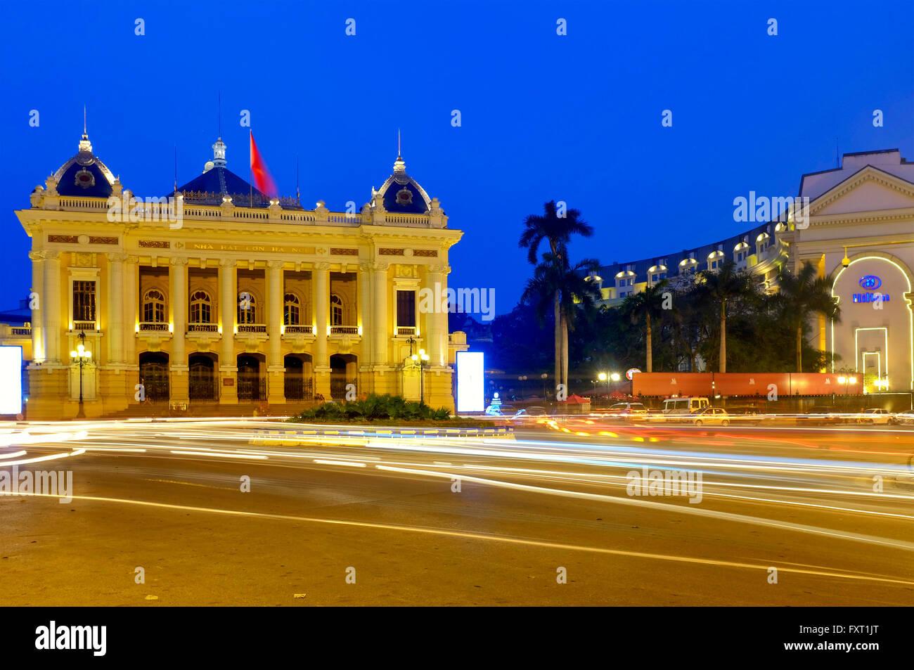 Hanoi Opera House, Hanoi, Vietnam - Stock Image