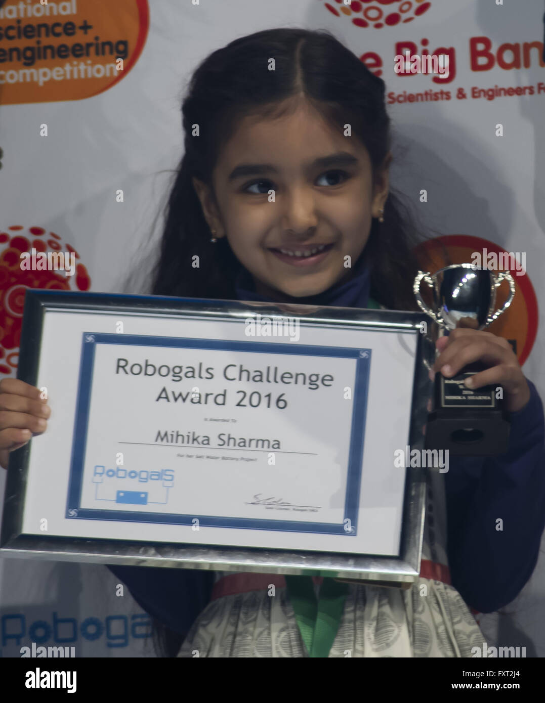 The 2016 Big Bang UK Young Scientists and Engineers Fair - Day 2 - Winners  Featuring: Robogals Challenge Award, - Stock Image