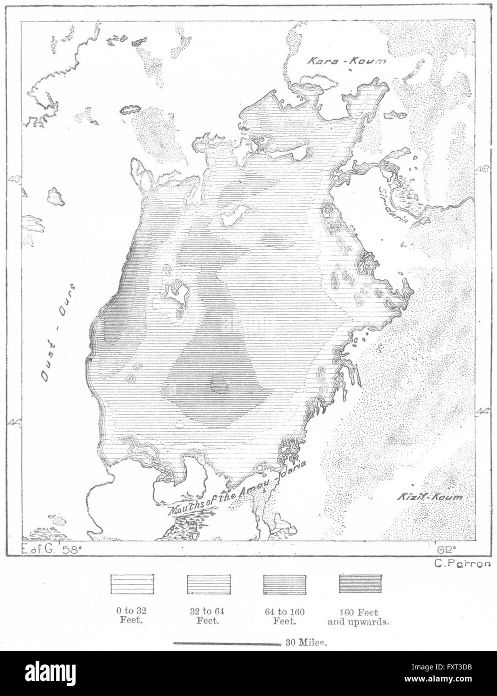 central asia aral sea sketch map c1885